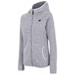 Bluzy polarowe: 4F Damska Bluza H4Z17 pld002 Jasny Szary Melanż Xs