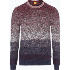 Swetry klasyczne męskie: BOSS Casual – Sweter męski – Arduage, niebieski