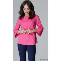 Bluzka L010 fuksja. Czerwone bluzki wizytowe marki Pakamera, l, eleganckie, z falbankami. Za 119,00 zł.