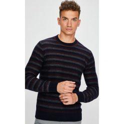 Trussardi Jeans - Sweter. Szare swetry klasyczne męskie marki Trussardi Jeans, l, z bawełny, z okrągłym kołnierzem. Za 539,90 zł.