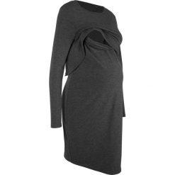 Sukienki ciążowe: Sukienka ciążowa i do karmienia bonprix antracytowy melanż
