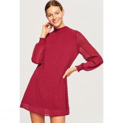 Sukienka mini - Fioletowy. Czarne sukienki mini marki numoco, l, z długim rękawem, oversize. W wyprzedaży za 59,99 zł.