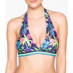 Stroje dwuczęściowe damskie: Wzorzysta góra od kostiumu kąpielowego typu halter bikini