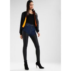 Rurki damskie: Missguided SINNER COATED MIX  Jeans Skinny Fit blue