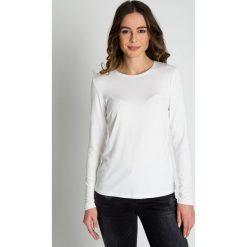 Dopasowana biała bluzka  BIALCON. Czarne bluzki longsleeves marki bonprix, eleganckie. Za 79,00 zł.