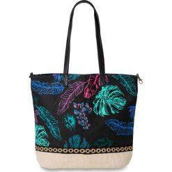 Torebka z nadrukiem w motywy dżungli bonprix naturalno-kolorowy. Brązowe torby plażowe marki bonprix, w kolorowe wzory, z nadrukiem. Za 74,99 zł.