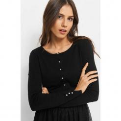 Sweter w groszki 3D. Brązowe kardigany damskie marki Orsay, s, z dzianiny. Za 49,99 zł.