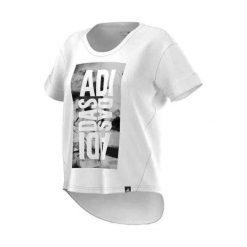 Bluzki asymetryczne: Adidas Koszulka damska SW LineAge Tee biała r. XS