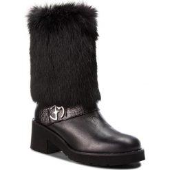 Kozaki EVA MINGE - Portulete 4W 18SF1372606EF 101. Czarne buty zimowe damskie Eva Minge, z materiału. W wyprzedaży za 589,00 zł.