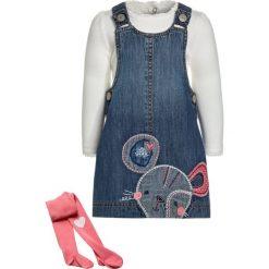 Sukienki dziewczęce: mothercare PINNY DRESS TEE & TIGHT BABY SET  Sukienka jeansowa denim