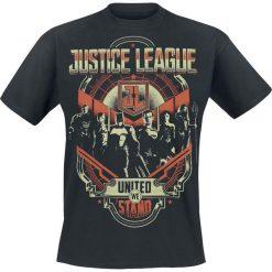 T-shirty męskie z nadrukiem: Justice League United We Stand T-Shirt czarny