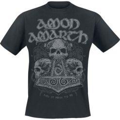 Amon Amarth Skull Hammer T-Shirt czarny. Niebieskie t-shirty męskie z nadrukiem marki Reserved, l, z okrągłym kołnierzem. Za 74,90 zł.