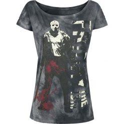 Friday The 13th Jason Machete Koszulka damska szary. Szare bluzki asymetryczne Friday The 13th, xxl, z nadrukiem, z dekoltem w łódkę. Za 74,90 zł.