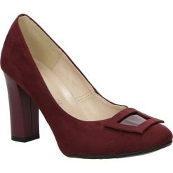 Czółenka na słupku Casu 1818. Czerwone buty ślubne damskie marki Melissa, z kauczuku. Za 99,99 zł.