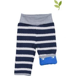 Spodnie niemowlęce: Dwustronne spodnie w kolorze niebieskim