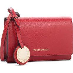 Torebka EMPORIO ARMANI - Y3B086 YH15A 88158 Red/Black. Czerwone listonoszki damskie Emporio Armani, ze skóry ekologicznej, na ramię. W wyprzedaży za 389,00 zł.