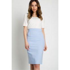 Spódniczki: Błękitna ołówkowa spódnica  BIALCON