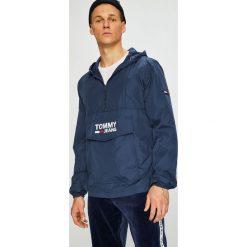 Tommy Jeans - Kurtka. Szare kurtki męskie bomber Tommy Jeans, l, z jeansu, z kapturem. Za 539,90 zł.