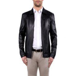 Kurtka męska 80-09-953-1. Czarne kurtki męskie skórzane Wittchen, m, klasyczne. Za 849,00 zł.