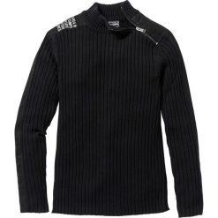 """Swetry męskie: Sweter """"Slim fit"""" bonprix czarny"""