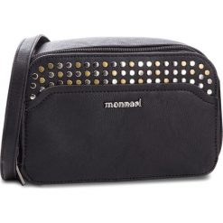 Torebka MONNARI - BAG5220 Black. Czarne listonoszki damskie Monnari, ze skóry ekologicznej. W wyprzedaży za 139,00 zł.