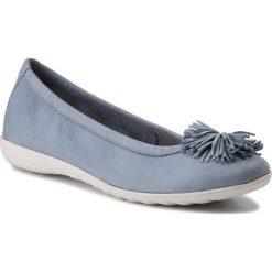 Baleriny damskie: Baleriny CAPRICE – 9-22116-20 Blue Nubuc 817