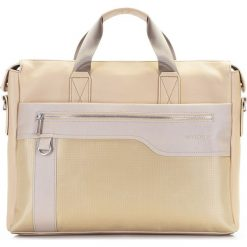 Torba na laptopa 86-3P-100-9. Brązowe torby na laptopa marki Wittchen, w paski, z nylonu. Za 199,00 zł.