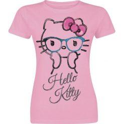 Hello Kitty Surprised Koszulka damska jasnoróżowy (Light Pink). Czerwone bluzki z odkrytymi ramionami marki Hello Kitty, xxl, z motywem z bajki, z okrągłym kołnierzem. Za 54,90 zł.