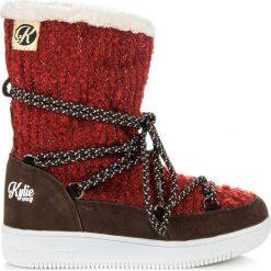 Buty zimowe DESIRE. Czerwone buciki niemowlęce chłopięce KYLIE, na zimę. Za 88,00 zł.