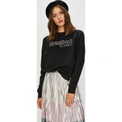 Reebok Classic - Bluza. Szare bluzy z nadrukiem damskie marki Reebok Classic, l, z bawełny, bez kaptura. Za 249,90 zł.