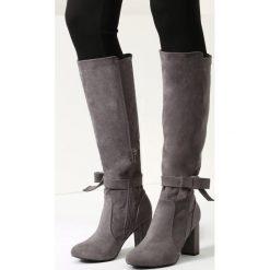 Jasnoszare Kozaki Easy Days. Szare buty zimowe damskie vices, na wysokim obcasie. Za 119,99 zł.