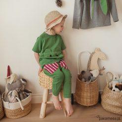 Chinosy chłopięce: Spodnie baggy zielone