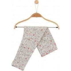Melanżowe legginsy w deseń dla niemowlaka. Czerwone legginsy dziewczęce marki Endo. Za 14,90 zł.