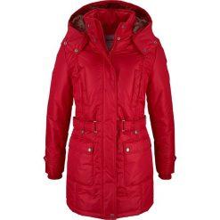 Płaszcz zimowy bonprix ciemnoczerwony. Czerwone płaszcze damskie pastelowe bonprix, na zimę. Za 239,99 zł.