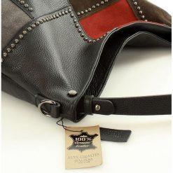 Torebki klasyczne damskie: AVRIL Designerska torebka włoska – Monica czarna