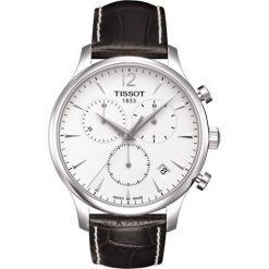 PROMOCJA ZEGAREK TISSOT T-CLASSIC T063.617.16.037.00. Białe zegarki męskie TISSOT, ze stali. W wyprzedaży za 1478,40 zł.