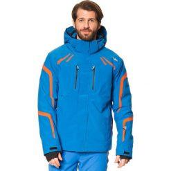Kurtka narciarska w kolorze niebieskim. Niebieskie kurtki sportowe męskie CMP, m, z materiału, narciarskie. W wyprzedaży za 515,95 zł.