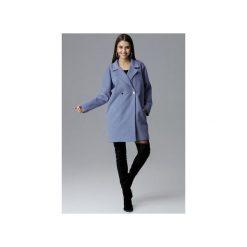 Płaszcz M625 Niebieski. Niebieskie płaszcze damskie pastelowe FIGL, l, z tkaniny. Za 299,00 zł.