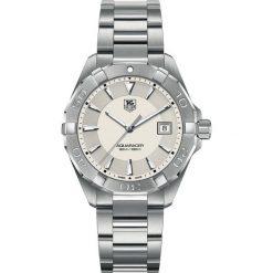 PROMOCJA ZEGAREK TAG HEUER Aquaracer. Białe zegarki męskie TAG HEUER, srebrne. W wyprzedaży za 4180,00 zł.