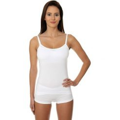 Bluzki damskie: Brubeck Koszulka damska Camisole COMFORT COTTON biała r. M (CM00210A)