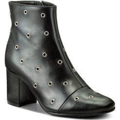 Botki EVA MINGE - Felicidad 2L 17SF1372284EF 101. Czarne buty zimowe damskie Eva Minge, ze skóry, na obcasie. W wyprzedaży za 259,00 zł.