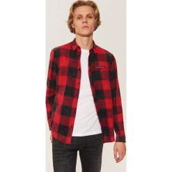 Koszula w kratę - Czerwony. Czerwone koszule męskie House, l. Za 79,99 zł.