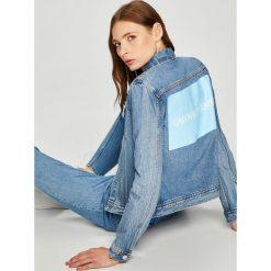 Calvin Klein Jeans - Kurtka. Szare kurtki damskie jeansowe Calvin Klein Jeans, l. W wyprzedaży za 459,90 zł.