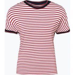 Tommy Jeans - T-shirt damski, czerwony. Czerwone t-shirty damskie Tommy Jeans, l, w paski, z jeansu. Za 129,95 zł.