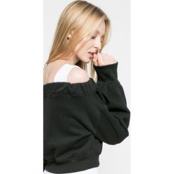 Missguided - Bluza. Szare bluzy z nadrukiem damskie marki Missguided, z bawełny, bez kaptura. W wyprzedaży za 79,90 zł.