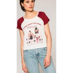 Tally Weijl - Top. Czerwone topy damskie marki TALLY WEIJL, l, z dzianiny, z krótkim rękawem. W wyprzedaży za 24,90 zł.