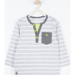 Koszulka. Szare t-shirty chłopięce z długim rękawem ROBOTS, z bawełny. Za 45,90 zł.