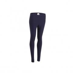 Legginsy Slim Gym & Pilates Salto 100 damskie. Niebieskie legginsy sportowe damskie DOMYOS, l, z bawełny. Za 19,99 zł.