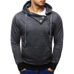 Bluzy męskie: Bluza męska z kapturem antracytowa (bx2277)