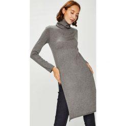 Answear - Sweter. Szare swetry klasyczne damskie ANSWEAR, l, z dzianiny, z golfem. W wyprzedaży za 139,90 zł.